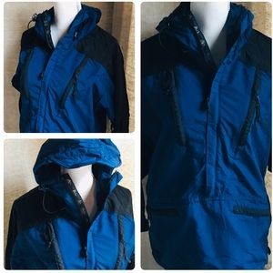 MOUNTAIN HARDWARE Blue Rain Pullover Jacket XSMALL
